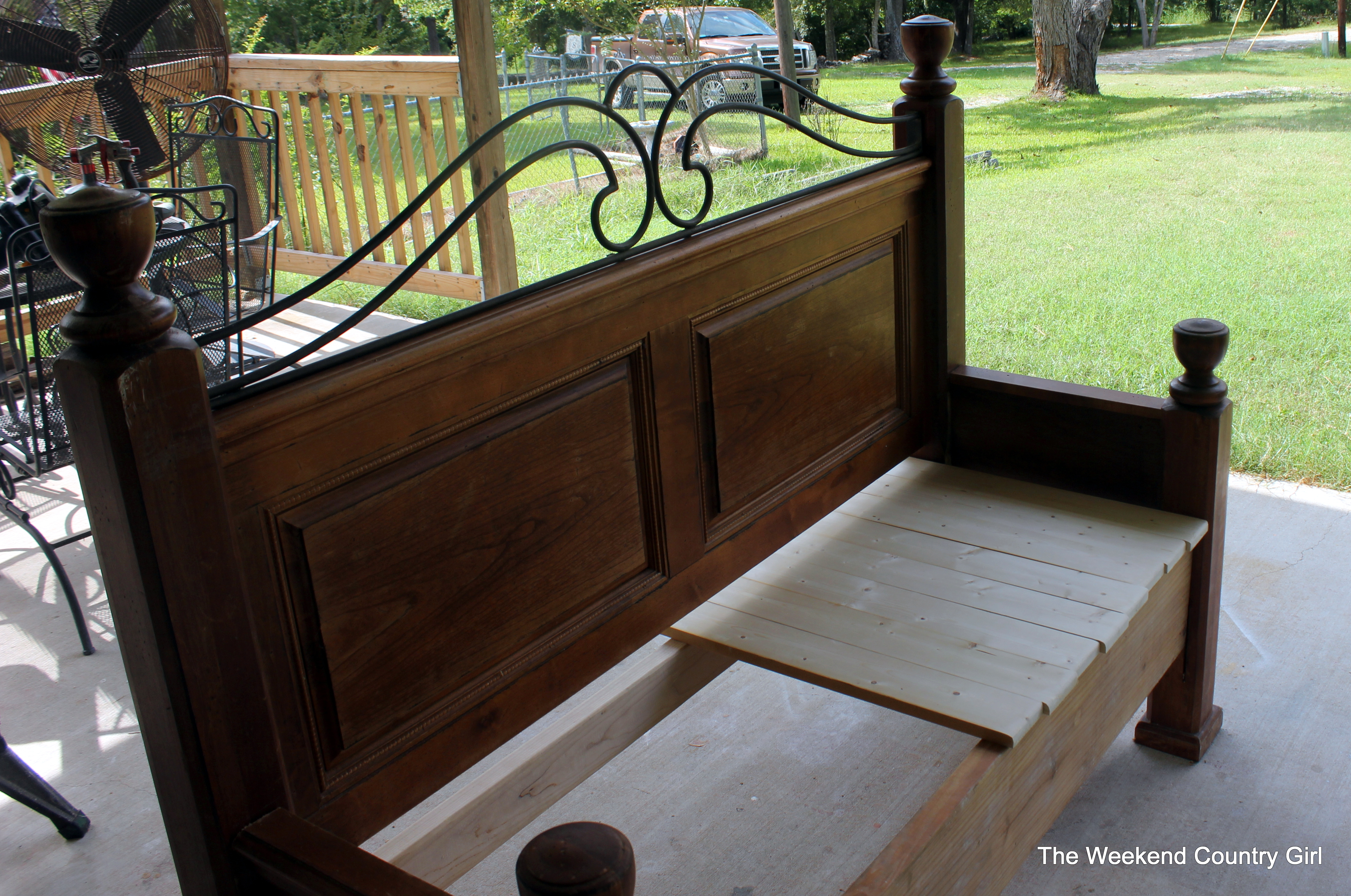 photo from foot footboard sold a this bench into x was and of board made headboard
