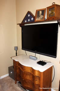 television mounted