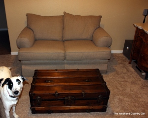 love seat and chest