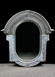 alhambra antiques Original Zinc and Wood Oeil du Boeuf Parisian Window Mirror french decorating ideas