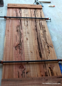 clamped cedar barn door
