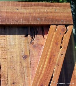 close up of barn door