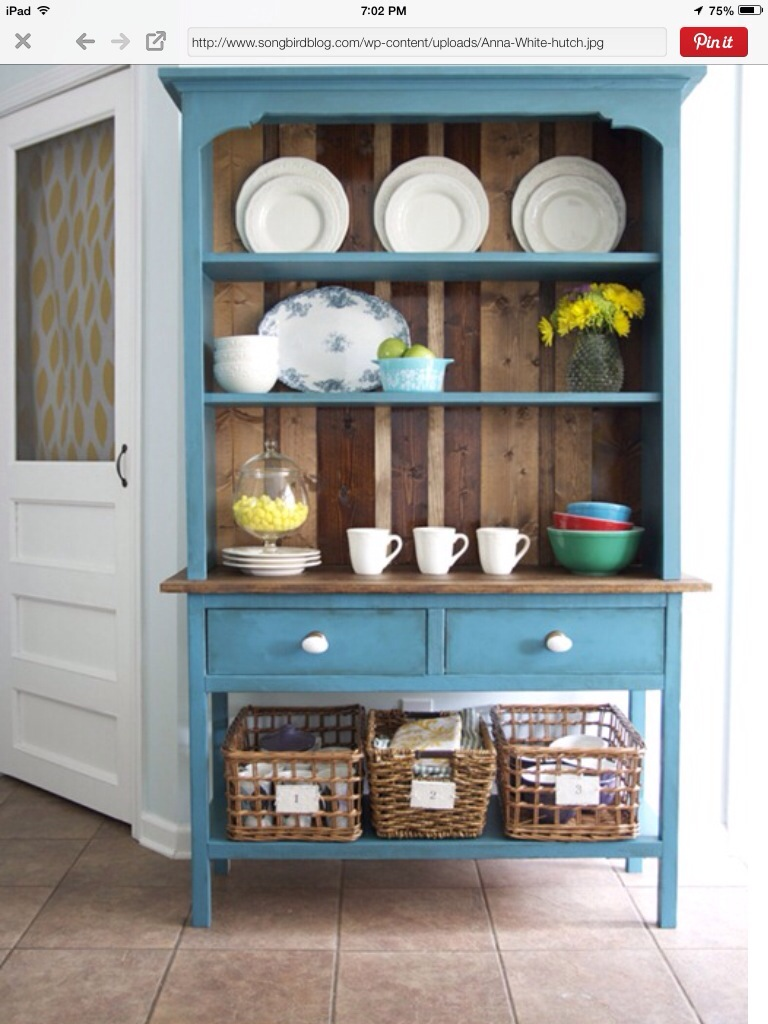 1980\'s dresser mirror into hutch | The Weekend Country Girl