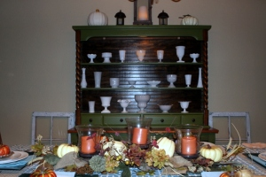 Hutch with fall table