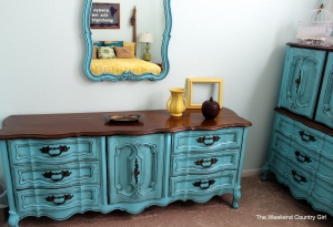 turquoise french provincial