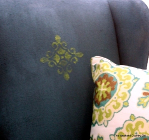 stenciled fabric chair