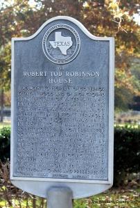 historic marker robinson plantation