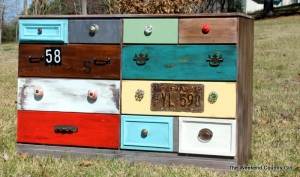 dresser with different drawer colors