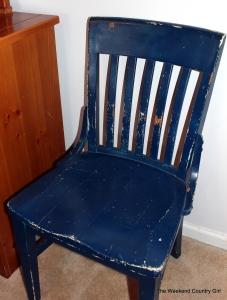 blue thrift store chair