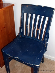 blue thrift store chair