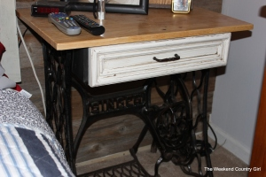 sewing machine to side table