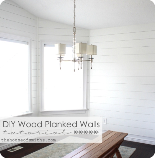 Whitewashed Wood Faux Ship Lap Wall The Weekend Country Girl