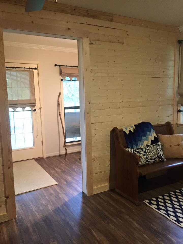 Creating A Ship Lap Wall For The Mudroom The Weekend