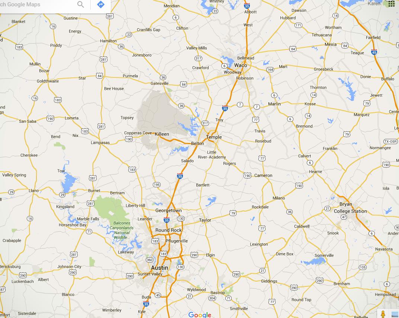 Waco to Austin